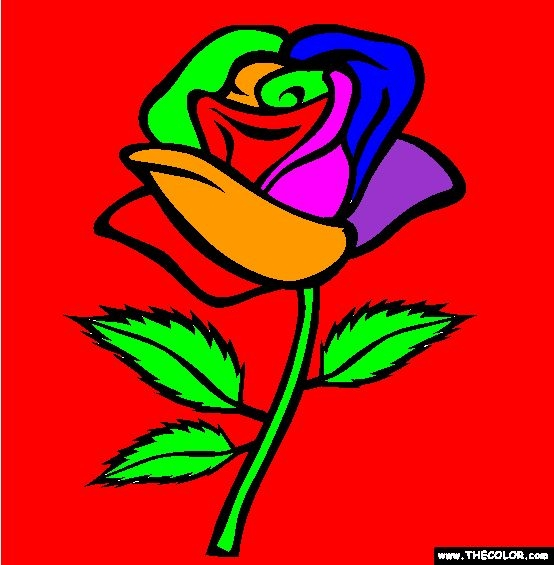 rose coloring pages -