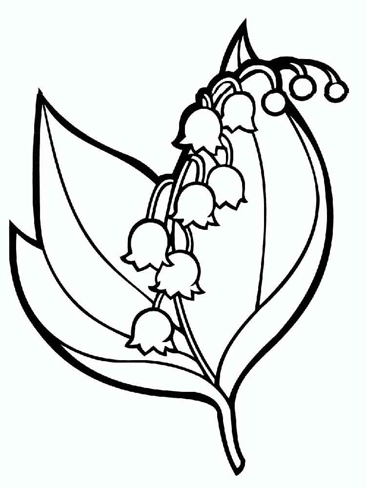 rose flower coloring pages - lily of the valley coloring pages
