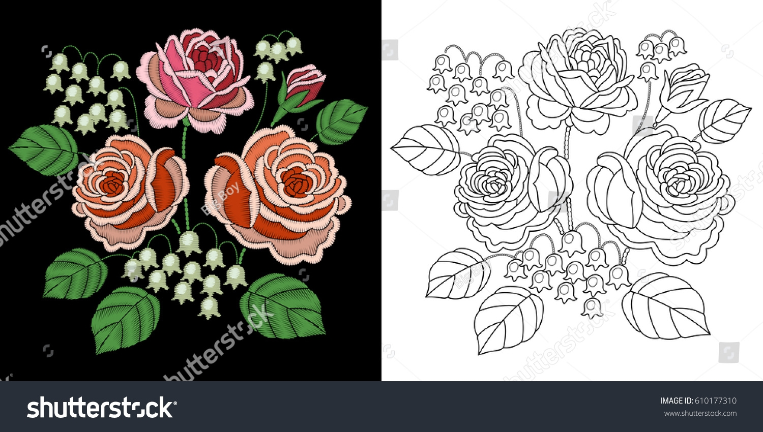 rose flower coloring pages -