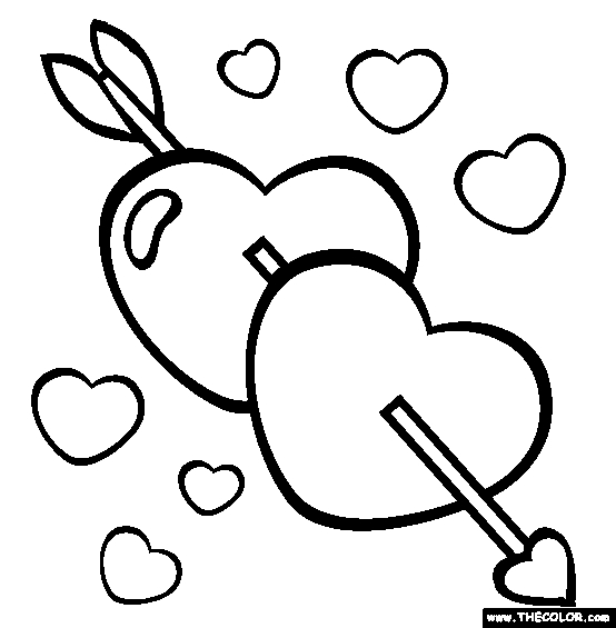rose flower coloring pages - Valentines Day