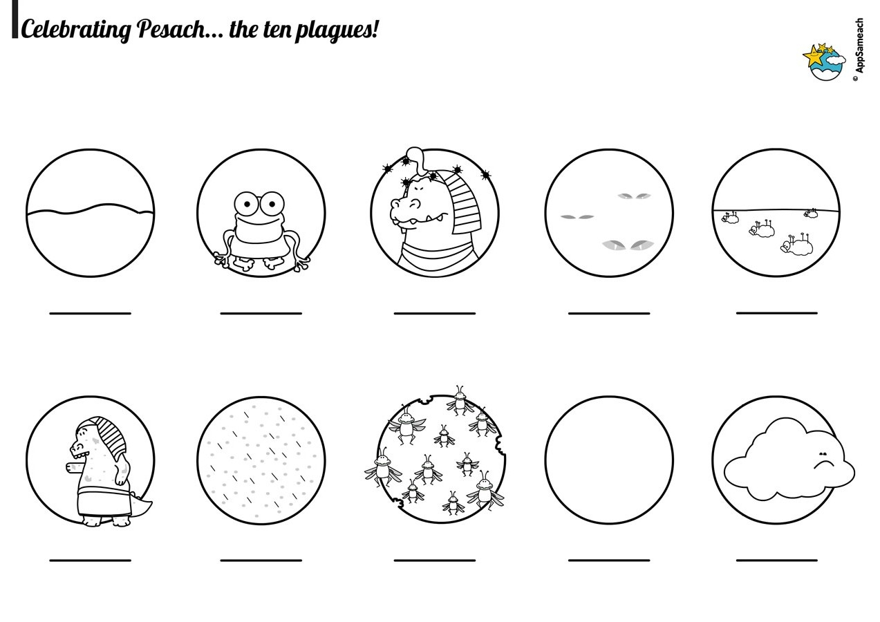 rosh hashanah coloring pages - passover plagues coloring pages
