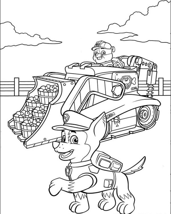 Rubble Paw Patrol Coloring Page - 218 Best Images About Coloring MesefigurÁs Sznezők On