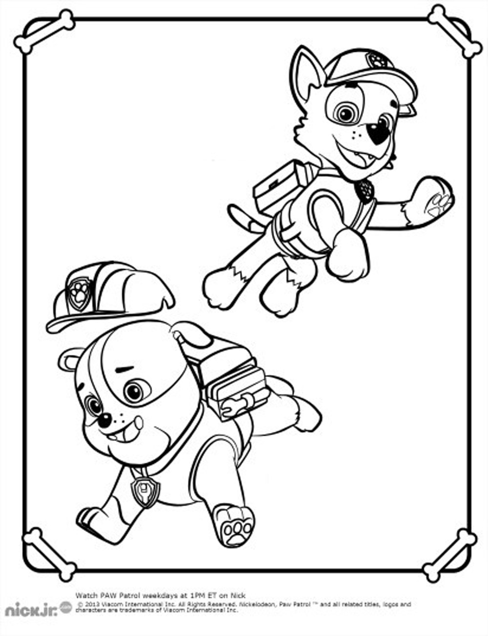 rubble paw patrol coloring page - 2