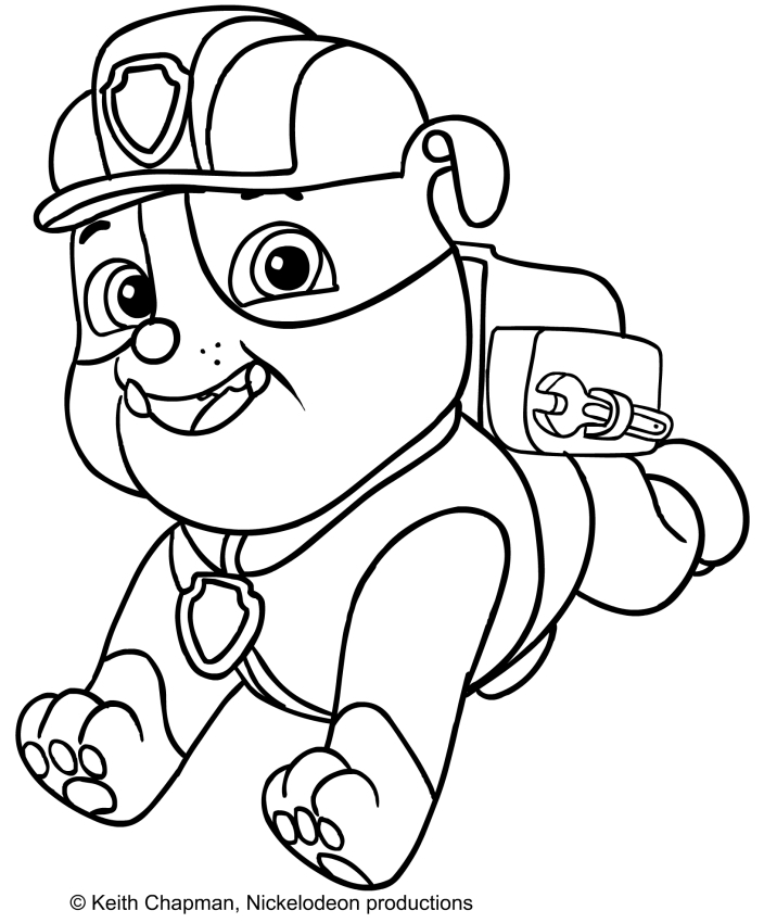 20 Rubble Paw Patrol Coloring Page Pictures Free Coloring Pages