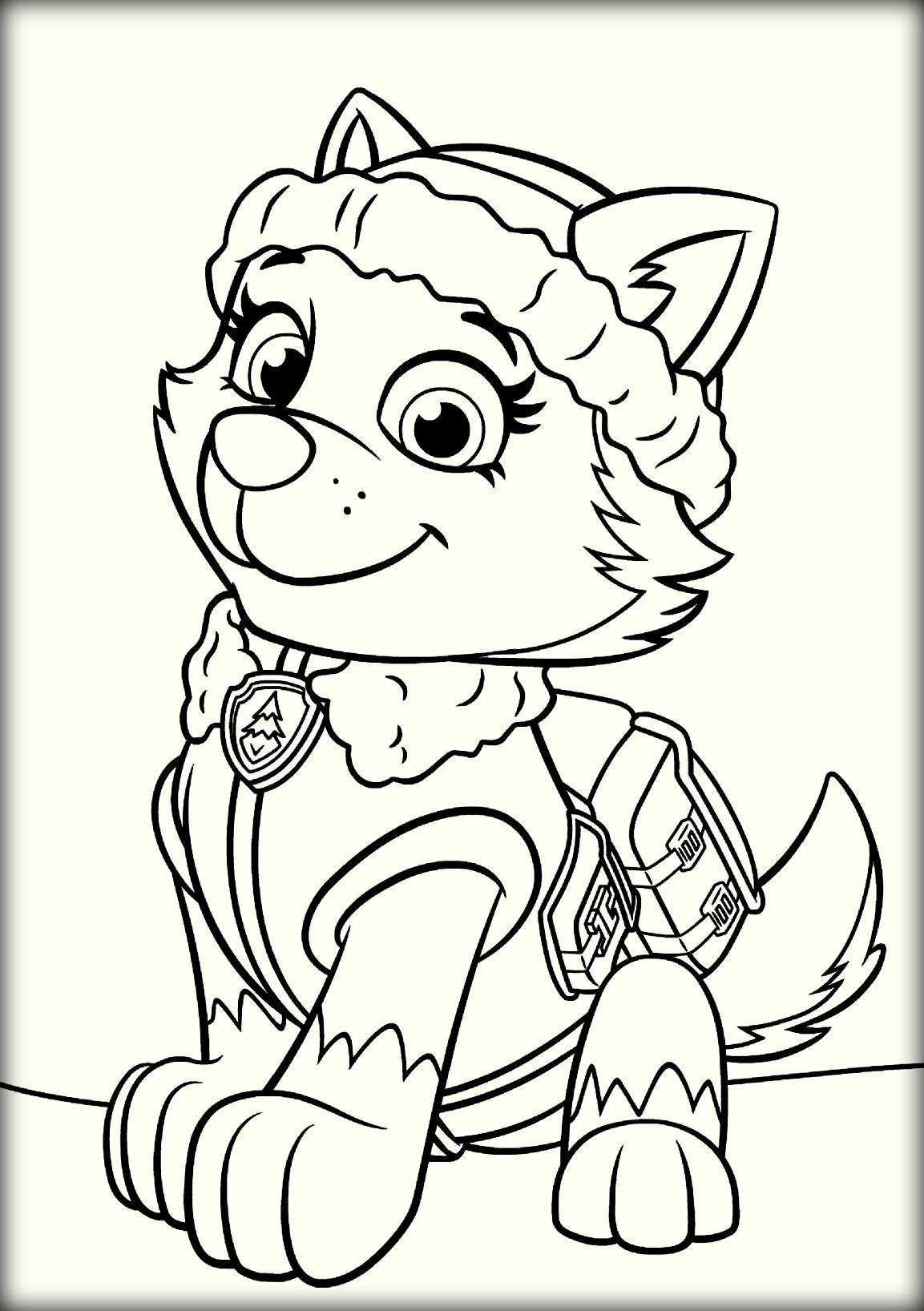 rubble paw patrol coloring page - paw patrol coloring pages