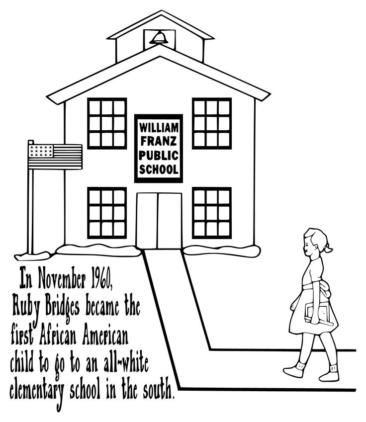 ruby bridges coloring page -