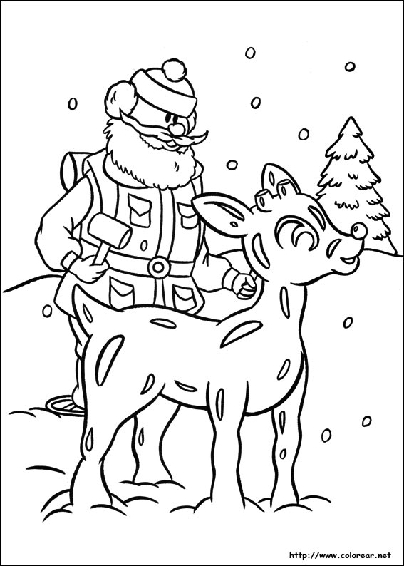 rudolph coloring pages - dibujos