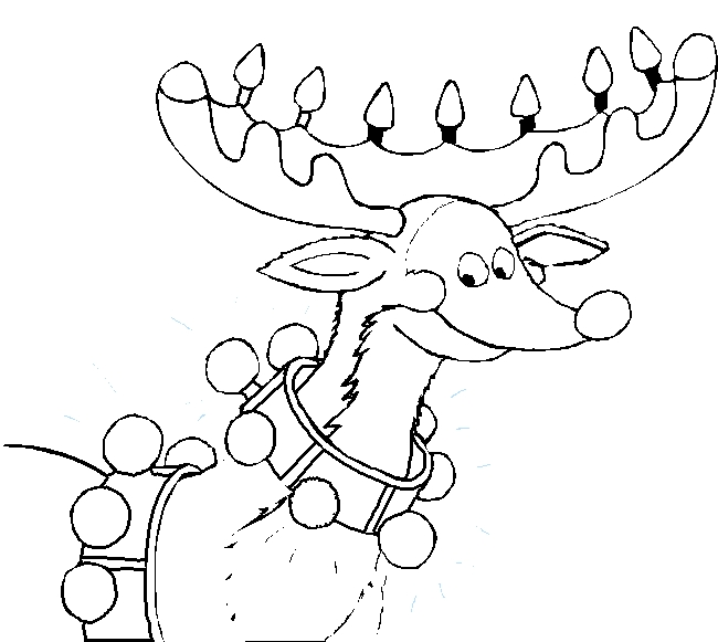 rudolph coloring pages - reindeer coloring pages santa reindeer