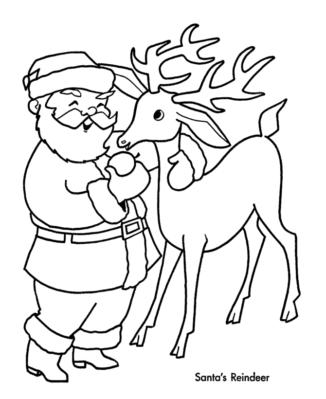 rudolph the red nosed reindeer coloring pages - reindeer printable