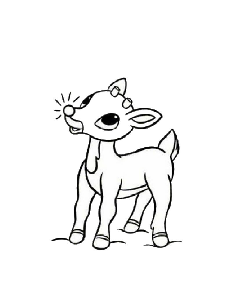 rudolph the red nosed reindeer coloring pages - rudolph das rotnasige rentier zum ausmalen