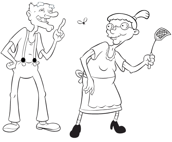 rugrats coloring pages - arnold
