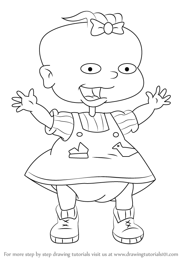 rugrats coloring pages - how to draw lil deville from rugrats