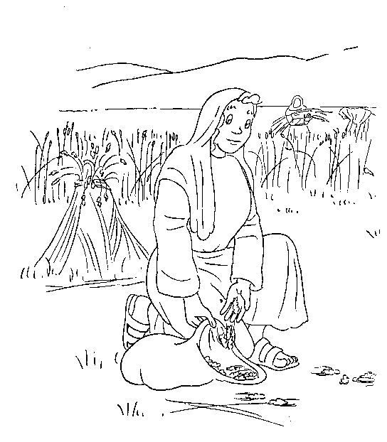 ruth and naomi coloring page - 374