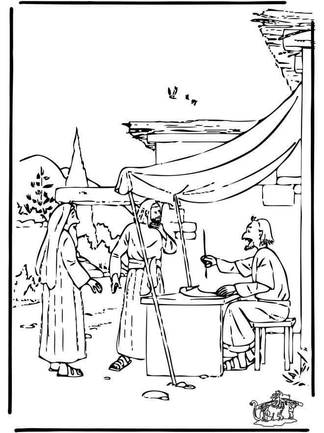 ruth and naomi coloring page - old testament coloring pages