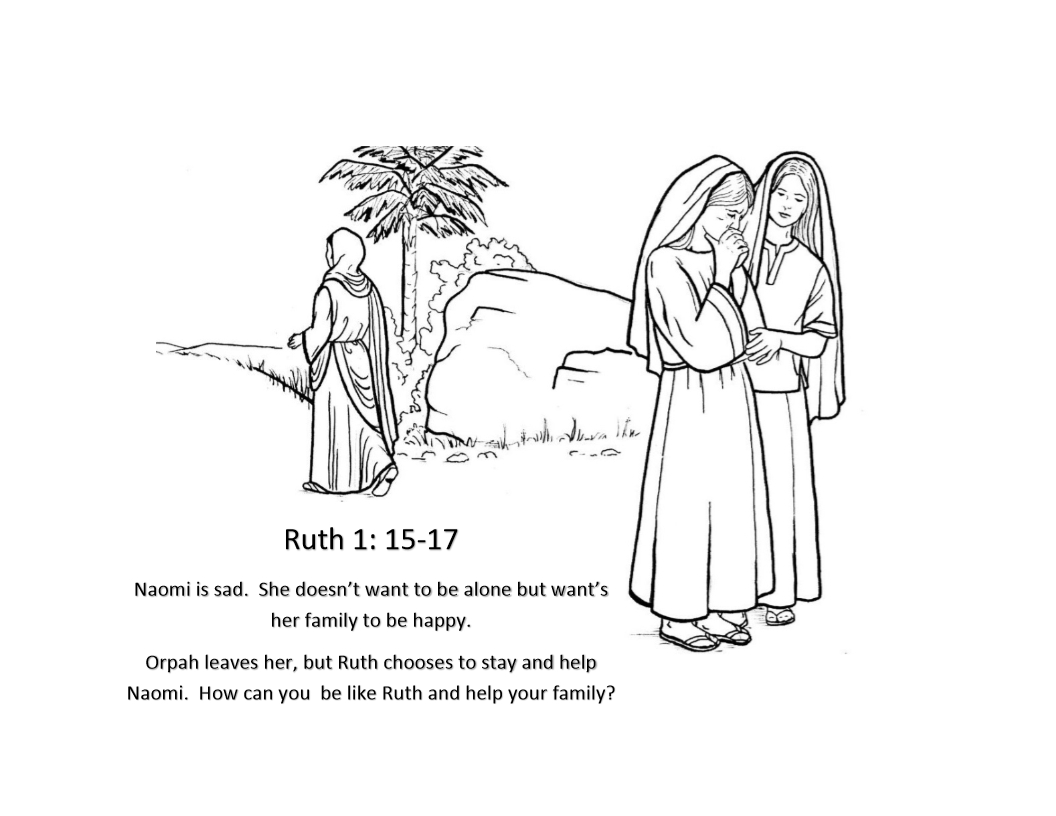 ruth and naomi coloring page - ruth and naomi coloring pages