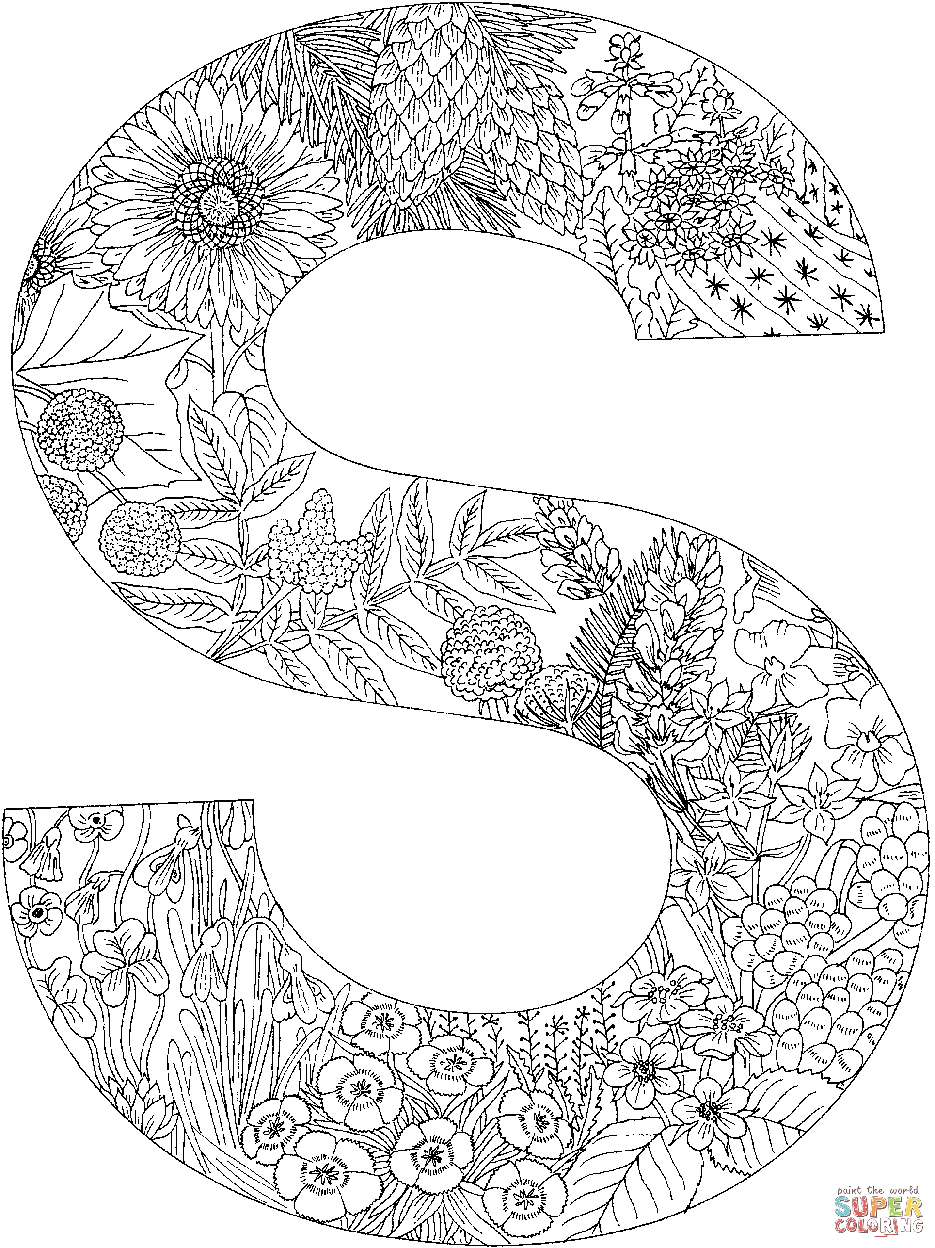 s coloring page - coloring pages letter s