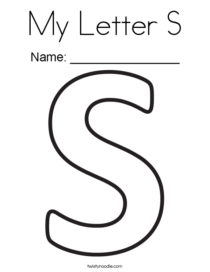 s coloring page - my letter s 3 coloring page