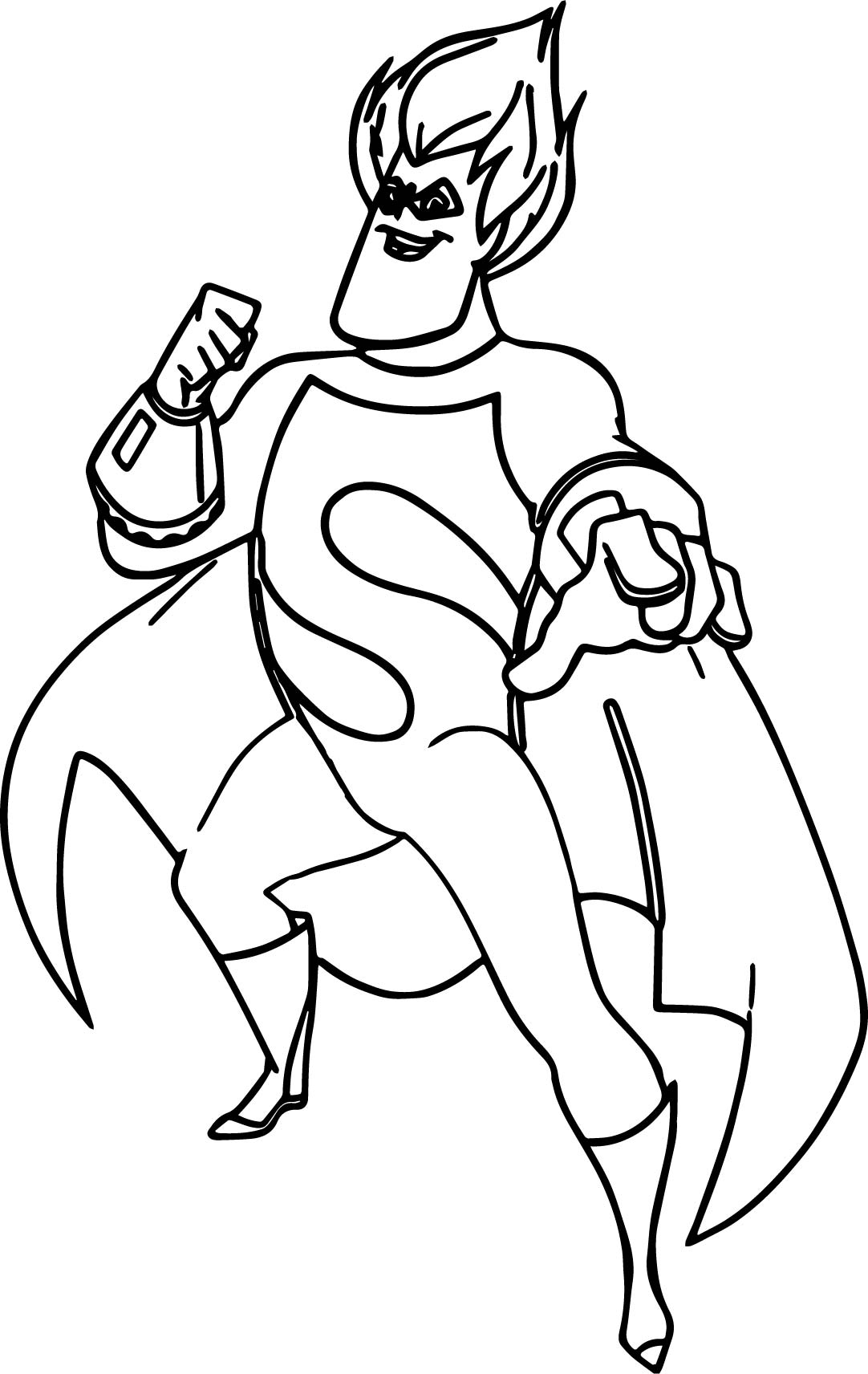s coloring page - incredibles s man coloring pages