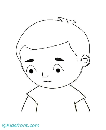 sad coloring pages - sad bw 827 picture