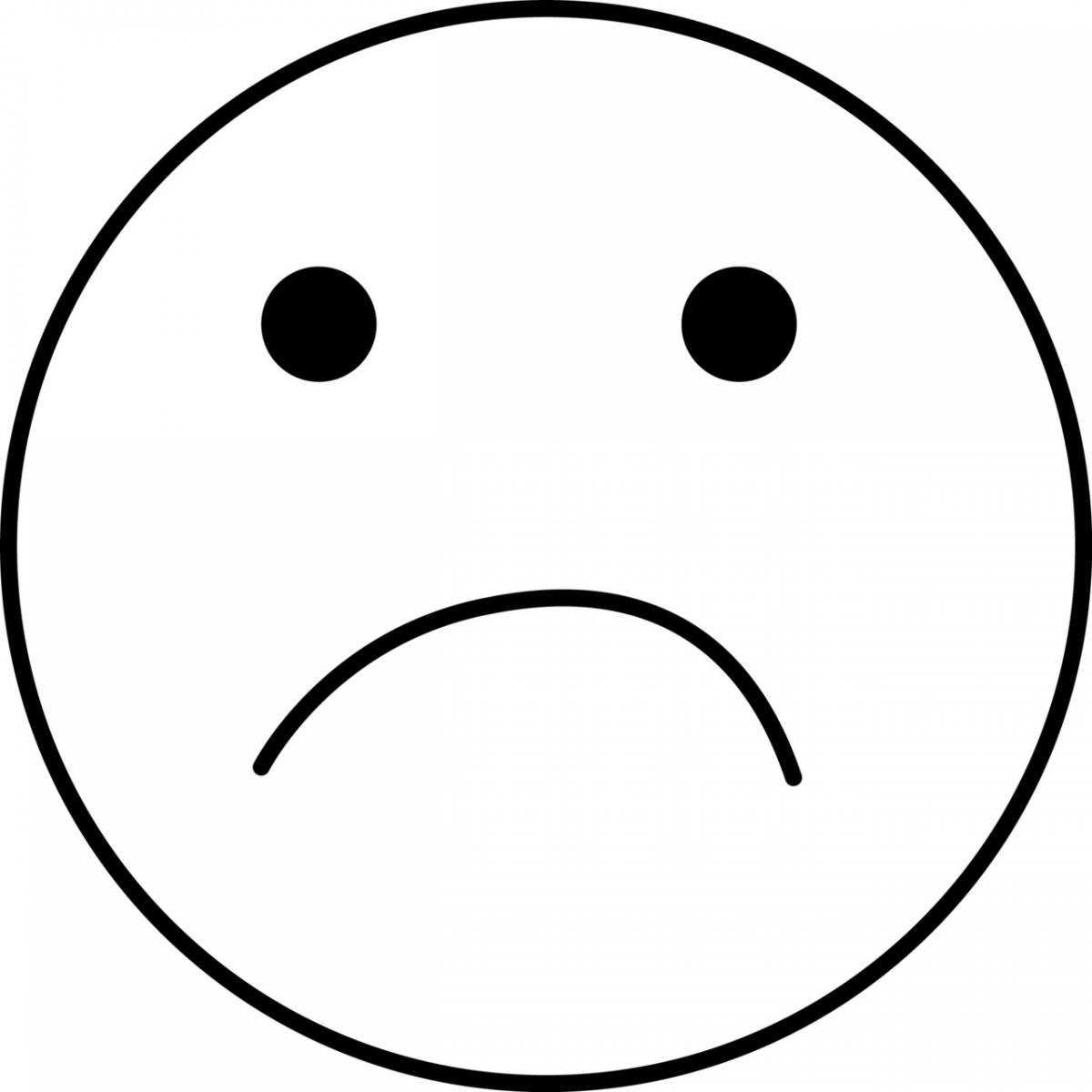 sad coloring pages - r=sad smiley face