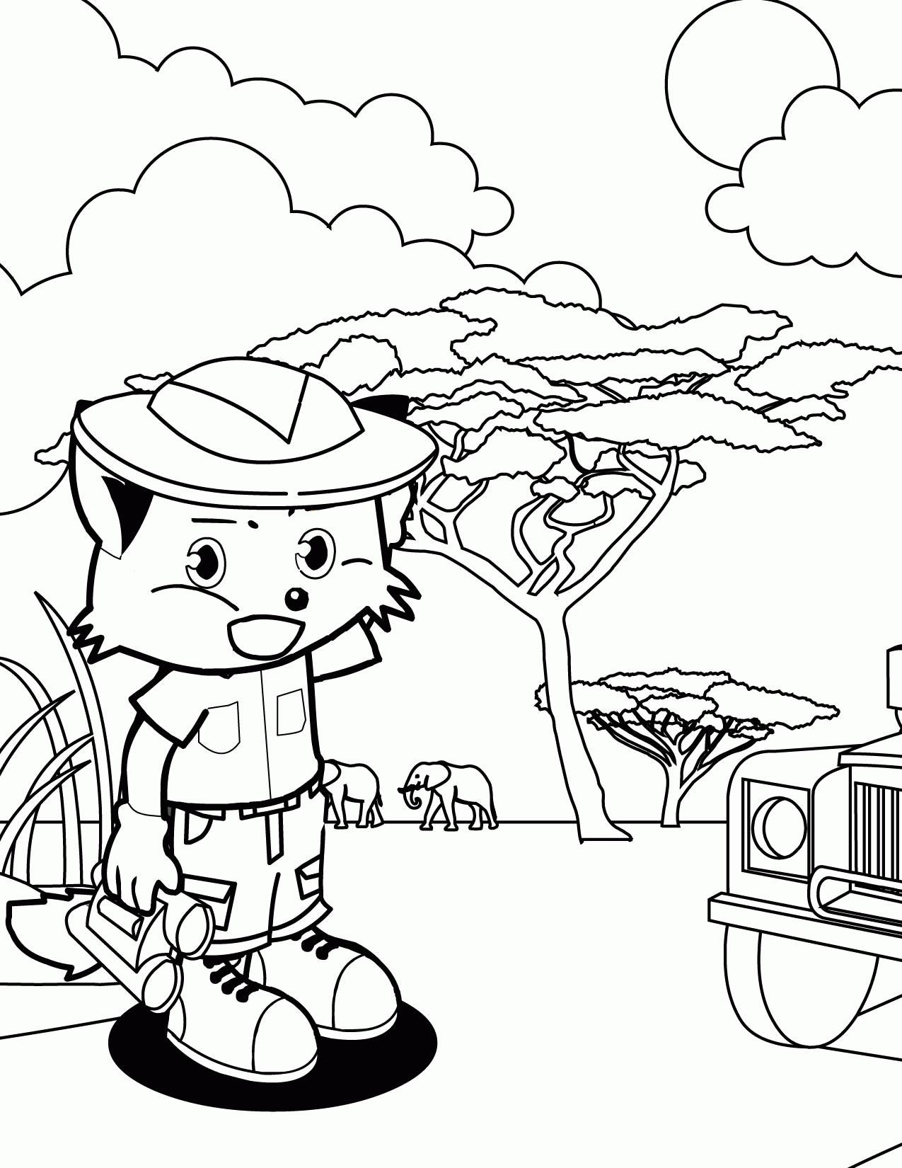 safari coloring pages - coloring pages safari