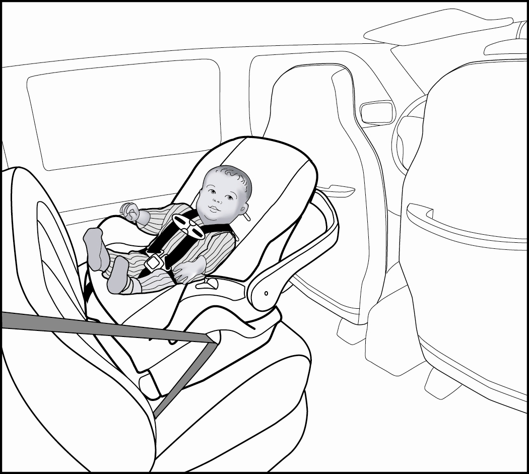 safety coloring pages - baby car seat drawingtml