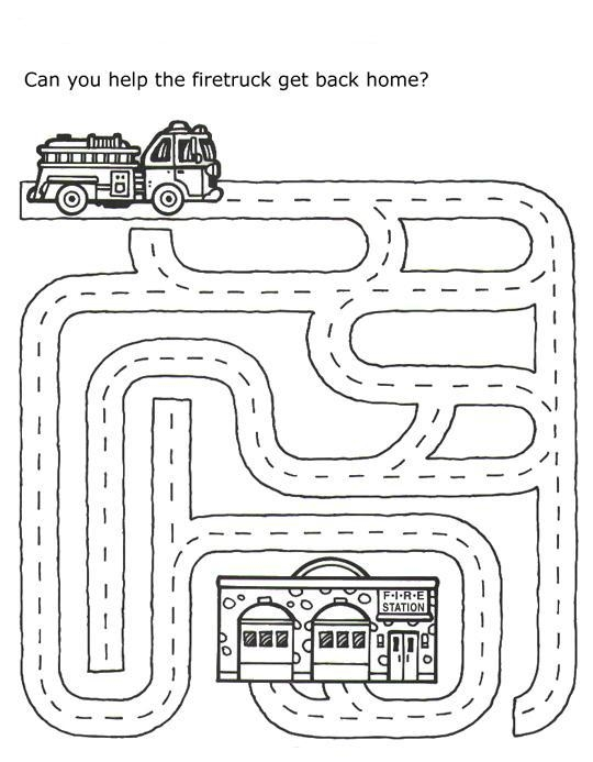 safety coloring pages - puzzles