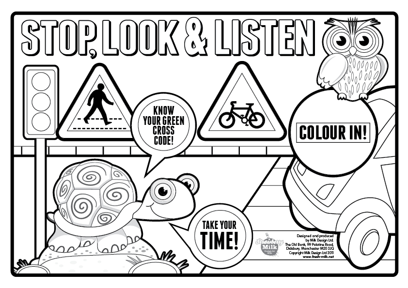safety coloring pages - safety signs coloring pages