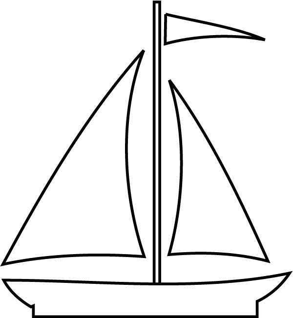 Sailboat Coloring Page - 40 Boat Coloring Pages Coloringstar