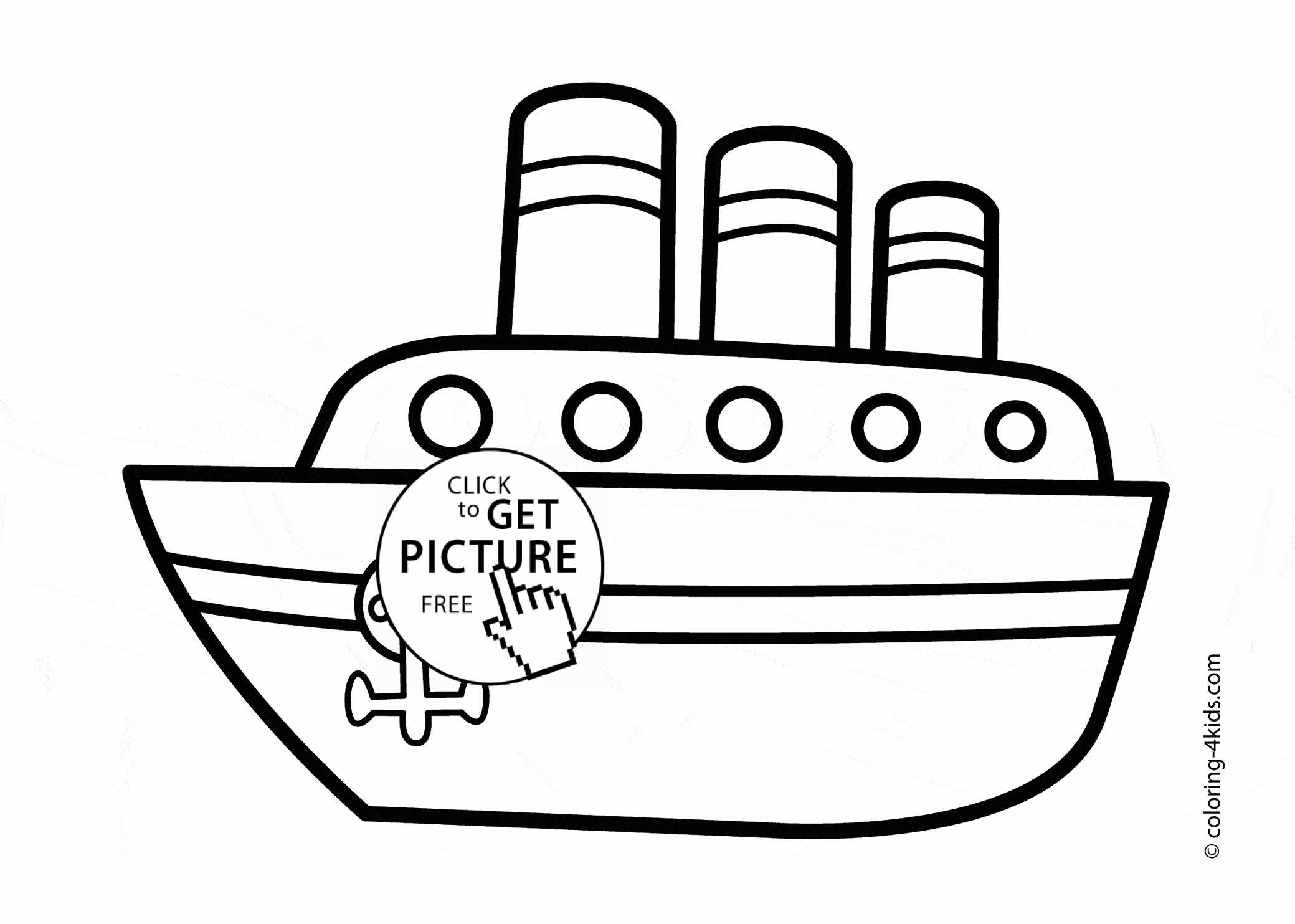 sailboat coloring page - big ship coloring page for kids transportation coloring pages printables free