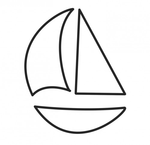sailboat coloring page - sailboat pictures for kids