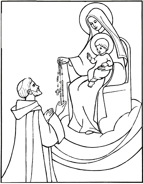 Saint Coloring Pages - Saints Coloring Pages