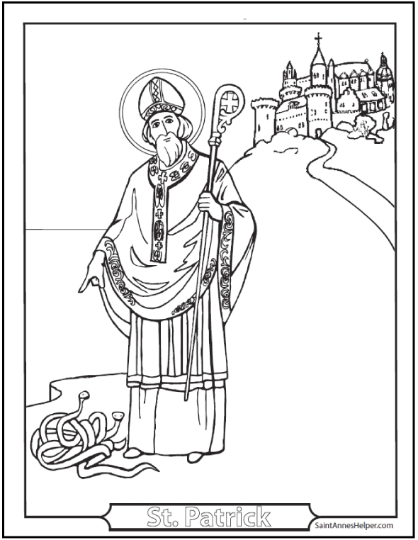 saint patrick coloring page - st patricks day coloring pages