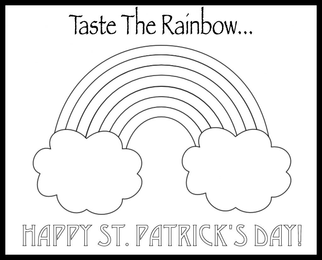 saint patrick coloring page - st patricks day activity for kids