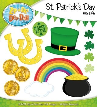 saint patrick's day coloring pages - St Patrick s Day Clipart Zip A Dee Doo Dah Designs