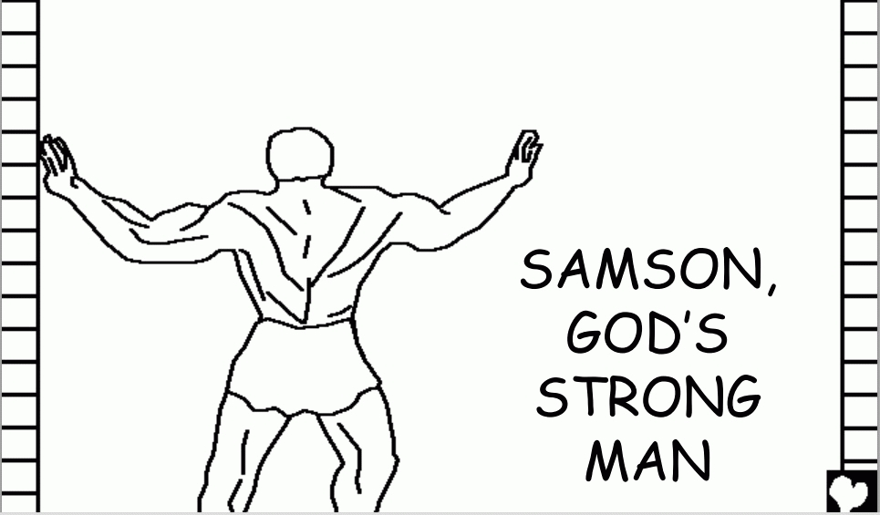 samson coloring page - coloring pages of samson