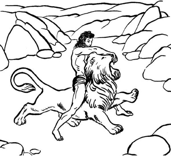 samson coloring page - samson and delilah coloring pages