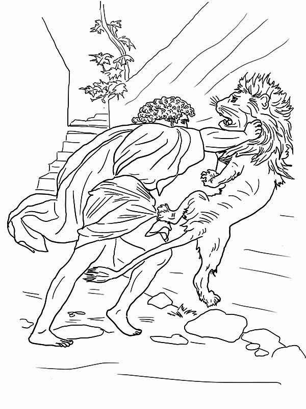 samson coloring page - samson coloring pages