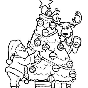 sand castle coloring page - a happy merry christmas from santa coloring page 2