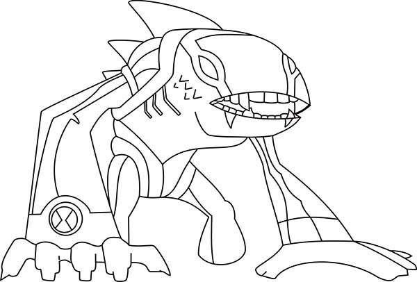 sand castle coloring page - articguana from ben 10 omniverse coloring page