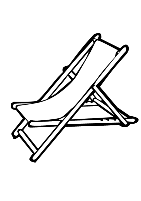 sand castle coloring page - beach chair coloring pages