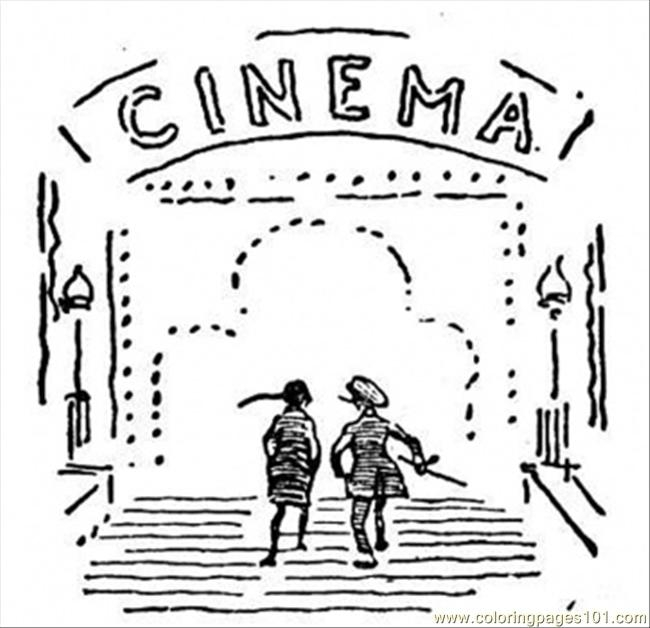 sand castle coloring page - 4295 cinema coloring page