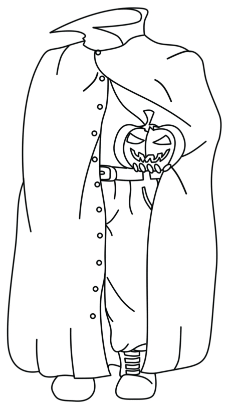 sans coloring page - halloween