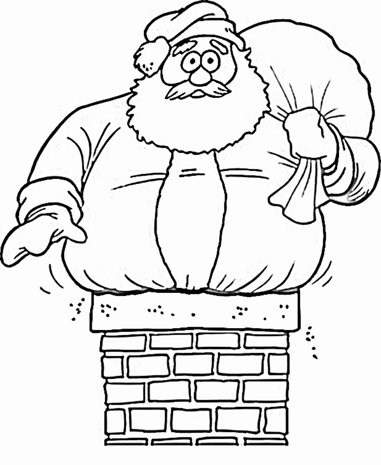 santa claus coloring pages - santa claus coloring pages