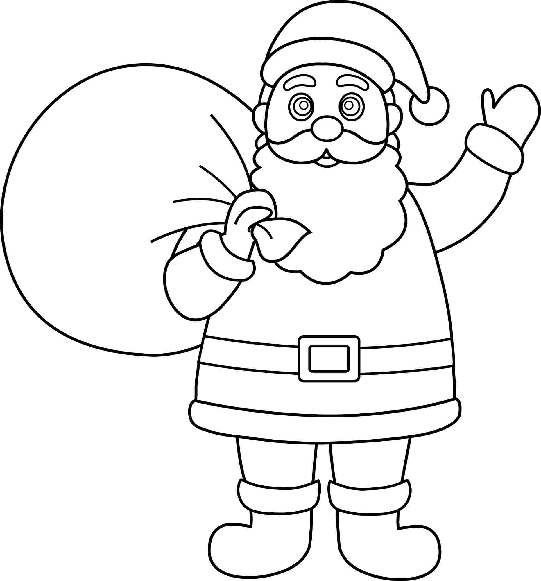 santa claus coloring pages - new santa claus coloring pages 16 for your free coloring kids with santa claus coloring pages