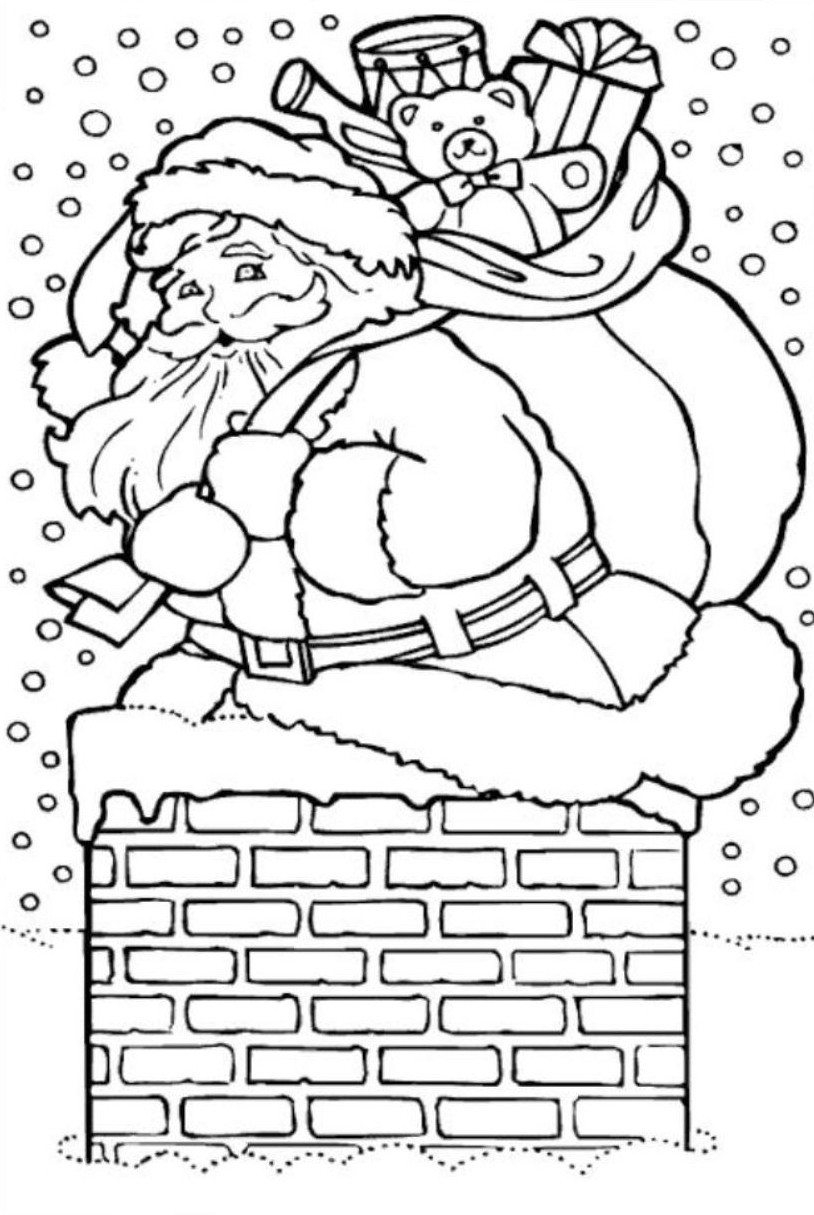 santa coloring pages printable free santa claus house coloring pages