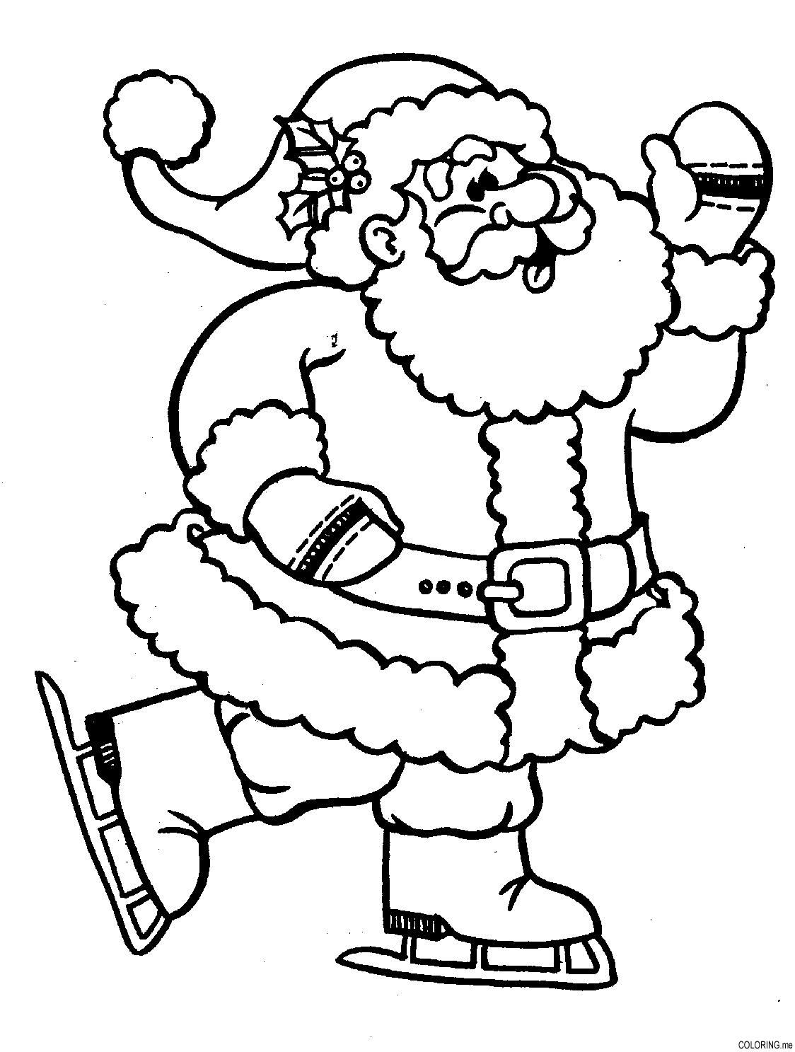 21 santa coloring pages printable free printable