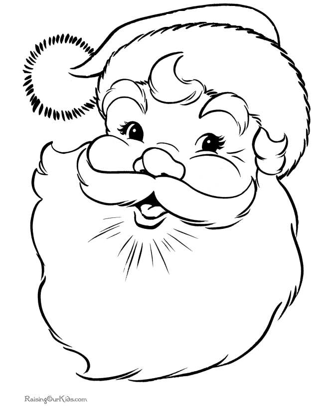 Santa Coloring Pages Printable Free - Santa Claus Coloring Pages 001