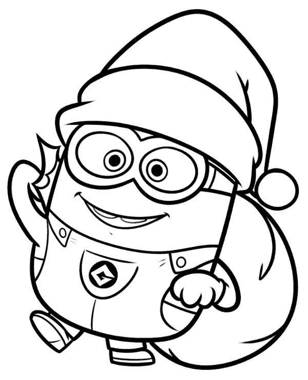 santa coloring pages - minions colouring pages 29