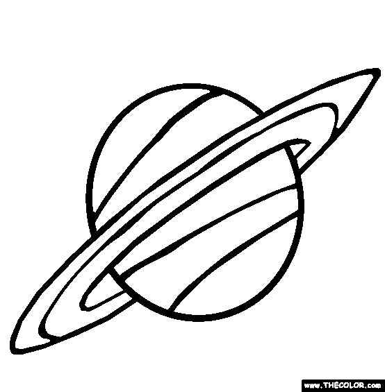 saturn coloring page - planet saturn coloring pages